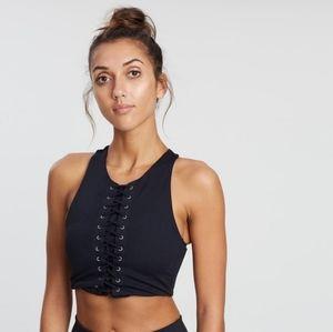 ALL FENIX Nova Lace Sports Bra Black Size XS